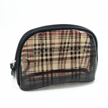 Travel Luggage Pouch Custom Clear Transparent Houndstooth PVC Travel Makeup Toiletry Bag