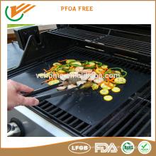 FDA,LFGB,ROHS approval grill mat custome size baking mat ptfe coated baking mat