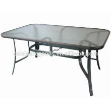 Outdoor garden patio metal glass table