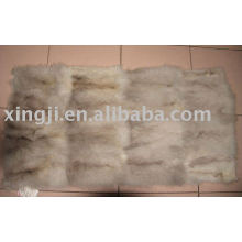 European blue fox belly fur plate