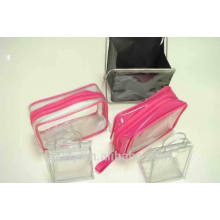 Прозрачный пластиковый пакет с застежкой-молнией