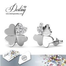 Destiny Jewellery Crystals From Swarovski Clover Earrings