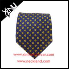 Corbatas para hombre florales cortos tejidos telar jacquar de seda al por mayor