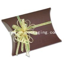 Caixa de Travesseiro de Natal Caixa de Travesseiro de Papel de Embalagem de Natal de Luxo