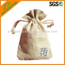 pequeños bolsos de cordón del yute del nuevo diseño de la cuerda del algodón