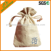 small cotton rope new design jute drawstring bags