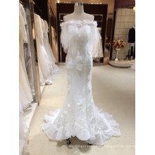 Sirena trompeta marfil vestidos de novia con envolturas