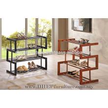 4 Layer Wooden Shoe Rack, Solid Wood Shoe Shelves