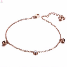 Popular New Design Rose Gold Jewelry Jingle Bell Bracelet Anklet Chain