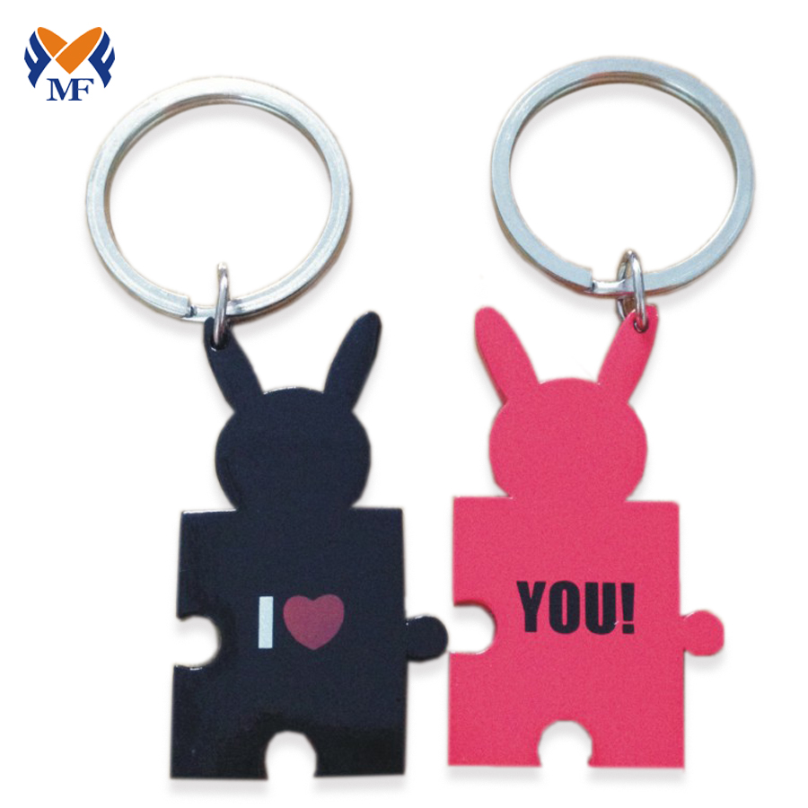 Funny Couple Keychain