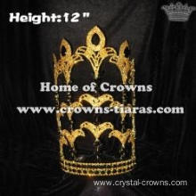 12inch Wholesale Crystal Fleur De Lis Pageant Crowns
