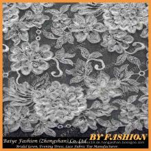 3D Spitze gestickte Pailletten Spitze Textil Braut Spitze 52 '' No.CA164SB