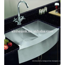 Square Degree Handmade Stainless Steel SUS 304 Farmhouse kitchen Sink with apron front(C85X54X23-S17)(C84x53x25-S23)