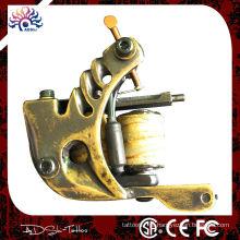 Máquina de tatuagem artesanal de latão tradicional de shader, 8 envolve bobina de tatuagem de bobinas de fio de cobre