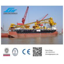 Transfer platform with bulk handling and lifting machine