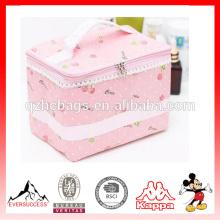 Макияж мешок, милый Серия розовый косметический мешок Организатор с довольно шаблон для женщин