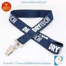Lanière imprimée par polyester plat adapté aux besoins du client de haute qualité avec le logo adapté aux besoins du client de la Chine