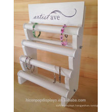 Service With Smile Quality At A Fair Price Custom Retail Shop Table Top 4-tier Wooden Branded Jewelry Display