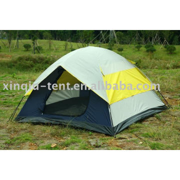 Double layer 3-4 person dome camping tent