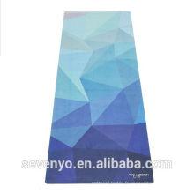 Mode éco-friendly dégradé couleur cool impression motif fleur tapis de yoga serviette YT-008