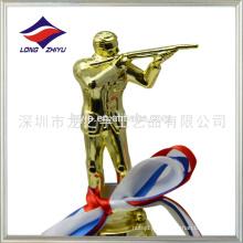 Personalizado troféu de tiro ao plástico O troféu do campeonato de tiro