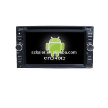 Quad core! DVD de coche con enlace espejo / DVR / TPMS / OBD2 para pantalla táctil de 6,2 pulgadas quad core 4.4 Sistema Android Universal