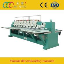 Máquina de bordar computadorizada plana Hefeng 8 cabeças