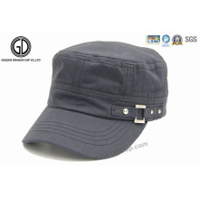 Trendy Cool Army Cotton Military Cap with Buckle Closure