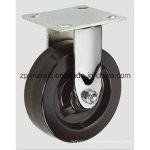 4inch Heavy-Duty Iron Rubber Fixed Caster Wheel
