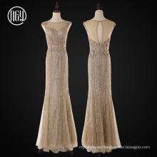 Vestidos de novia bordados con cuentas de sirena de celebridades pesadas
