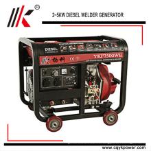 Grupo electrógeno de soldadura YKF8500WE 50HZ / 60HZ en la planta de generación de generador diesel con generador de soldador usado de Australia