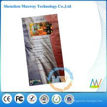 menu de vídeo com tela lcd de 10 polegadas