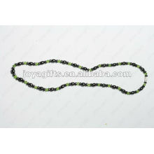 Magnetic Hematite Green Glass beaded Necklace