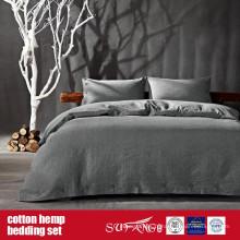 Ensemble de couverture de couette de chanvre de coton pour l'usage à la maison de luxe d'hôtel