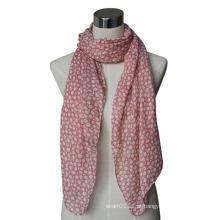 Senhora moda impresso lenço de voile de algodão de primavera (yky4067)