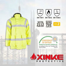 cotton winter work jacket with low content of formaldehyde