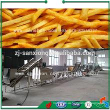 Línea de procesamiento congelada Máquina de patatas fritas