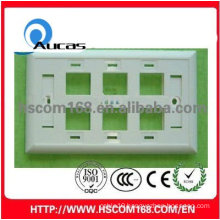 rj11 rj45 Six ports Face Plate