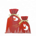 Bolsas de envoltura de regalo de Santa Claus Rose Red Merry Christmas