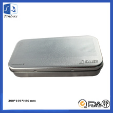 Rectangular Hinged Metal Pencil Tin Box