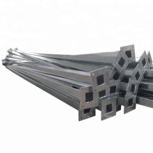 Square street application galvanised steel pole for lighting