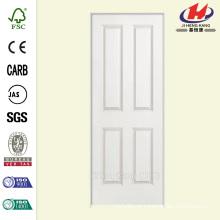 30 polegadas x 80 polegadas Liso de 4 painéis de núcleo oco Primed Composto Single Prehung Porta Interior