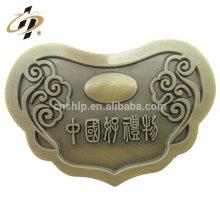 Médaillon en bronze de fonte antique de bronze du souvenir 3D en métal fait sur commande