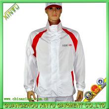 OEM Sportswear tela de impressão branco jaqueta