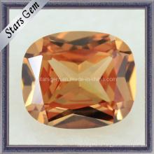 Высококачественная прямоугольная форма темного шампанского CZ Stone Cubic Zirconia