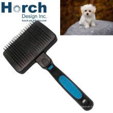 Wholesale grooming plastic handle dog pin brush