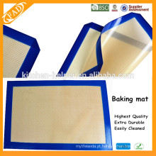 China Profissional Fabricante BPA Free Multifuncional Food Grade Resistente ao calor Non-stick Fiberglass Silicone Baking Mat