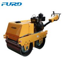 Máquina de construcción de carreteras de doble tambor rodillo vibratorio manual para la venta (FYLJ-S600C)