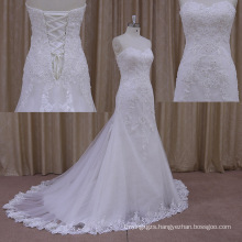 Shimmering Ruffle Band Latest Sexy Crystal Wedding Dresses