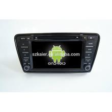 Quad core android, vente chaude !! système de navigation audio DVD de voiture, Bluetooth, MIROIR-CAST, AIRPLAY, DVR, SWC pour skoda octavia 2013